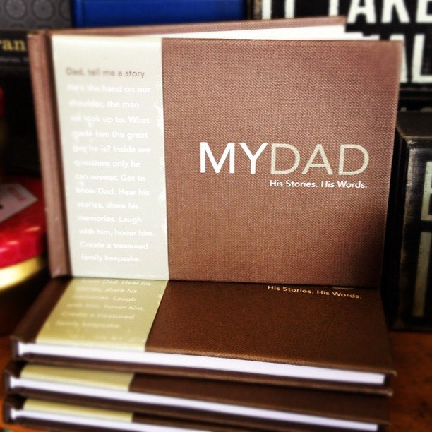 An amazing little journal with heartfelt questions, a sweet prompt to Dad to record his memories!