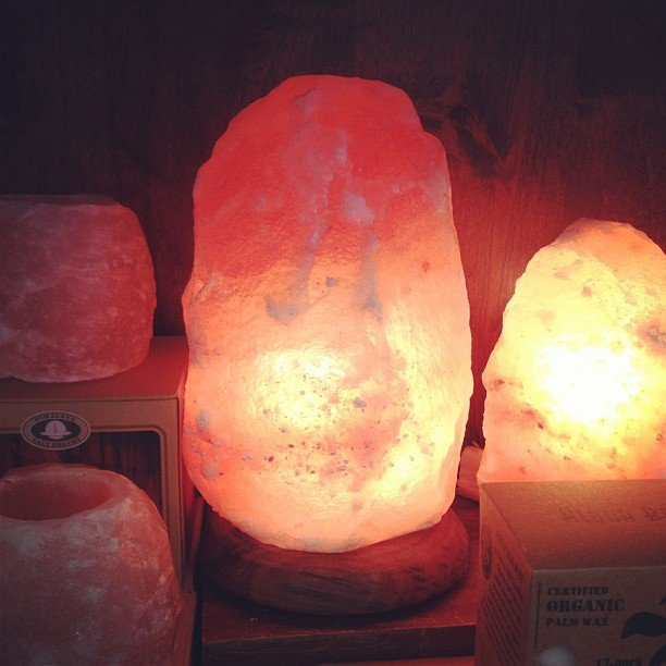 Himalayan Salt Lamps and candle holders!