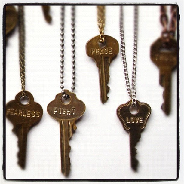 The giving key necklace wear it embody the word and for Words to wear jewelry