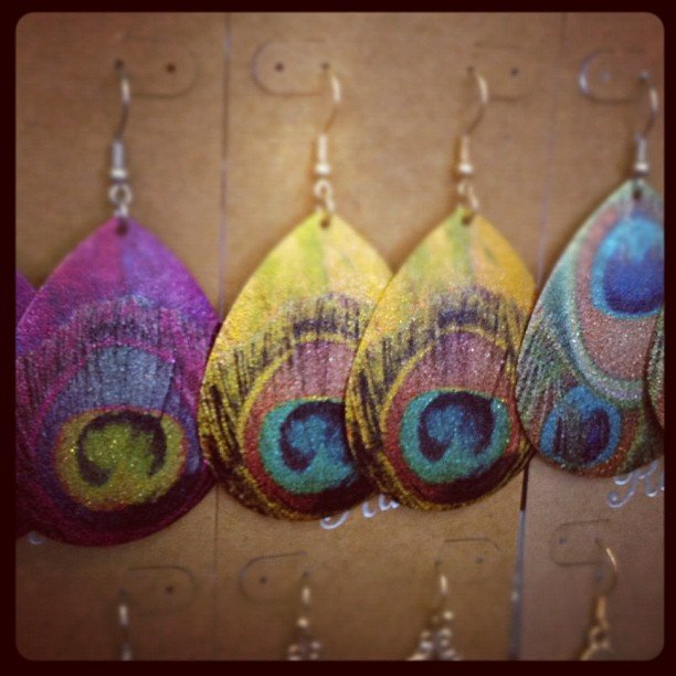 Peacock earrings back in stock! #peacock #soulscape  #encinitas
