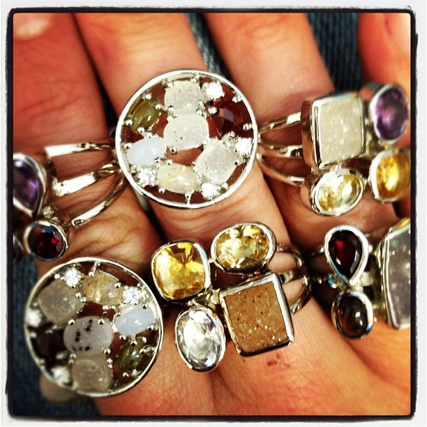 New #druzy #rings. So sparkly and luscious! #soulscapelife #encinitas