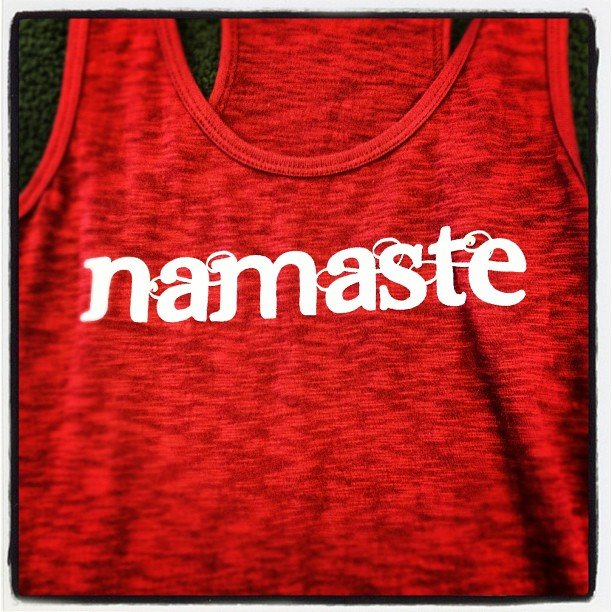 Gorgeous new tanks, tees, and even men's! You can't see it but every single one is embellished with a crystal! #bling #namaste #encinitas #shoplocal #soulscapelife #gottahaveit