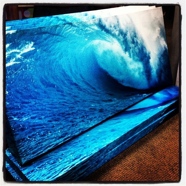 What's that you ask? It's our brand new #wave canvas, hottest new item in the store! #encinitas #shoplocal #smallbusinesssaturday #soulscapelife #surf