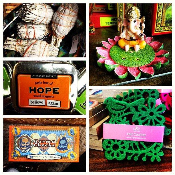 Stocking stuffers! All under $10! #sage #magnets #karmachecks #ganesha incense burner #feltcoaster #encinitas #soulscapelife