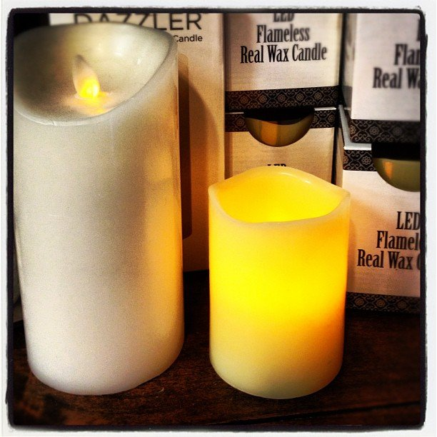 Led, flameless, real wax candles... No fire hazards for those of us that are accident prone! Back in stock! #encinitas #soulscapelife #flamelesscandle #safe