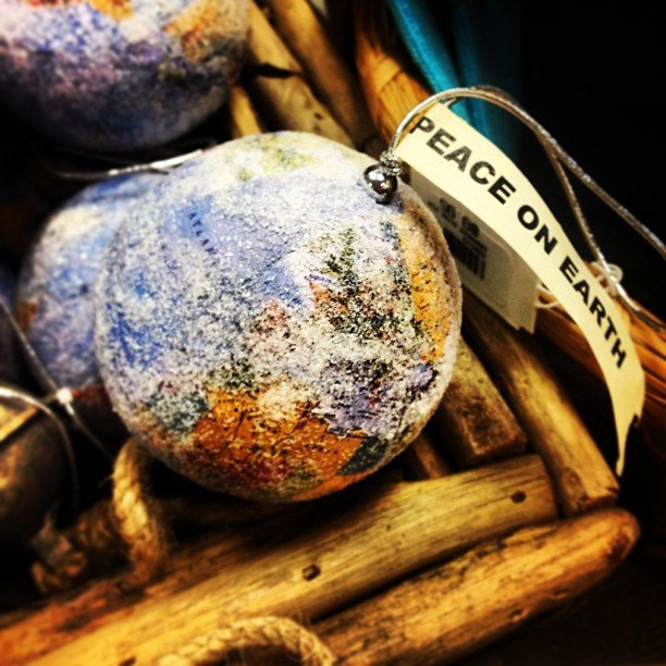 Peace on earth! All ornaments now 50% off! #ornament #peaceonearth #encinitas #soulscapelife