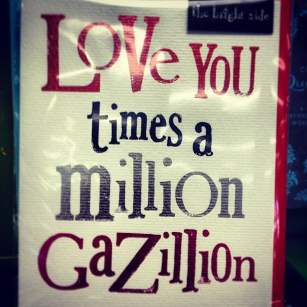 That's a lot! #valentine #loveyou #encinitas #soulscapelife #million #instalove #stationary #bemine #card