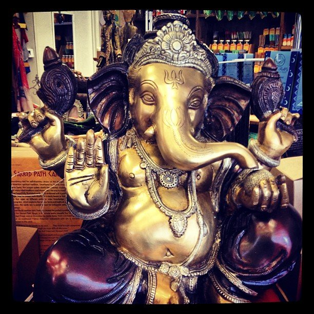 Oh Ganesha, how do I love thee, let me count the ways... Ganesha is the Lord of success and destroyer of evils and obstacles. He is also worshipped as the god of education, knowledge, wisdom and wealth.