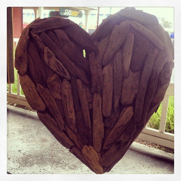 Our popular driftwood hanging heart. A bit of ocean, a dash of love and a whole lot of what we call the perfect gift.