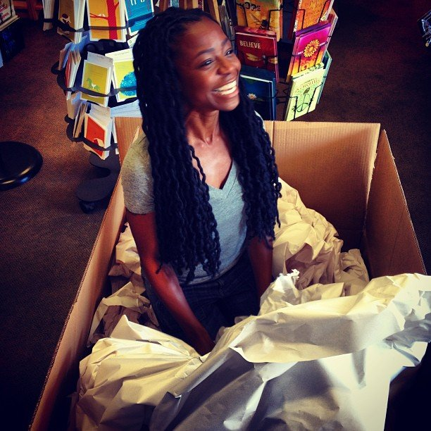 Fun at Soulscape. We are shipping Key off! Literally... She's leaving us to see the world soon. We will miss her happy tears!