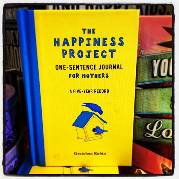 """Another Mother's Day idea! Sweet little journal based in the popular book, """"The Happiness Project"""""""
