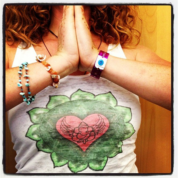 New shirts! Made here in Encinitas! Can't get more local than that! Heart chakra Ganesha, fully embrace those obstacles!