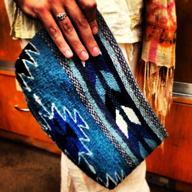 Perfect for Fall! I'm a little obsessed with all the native prints trending right now... 100% wool, signed by each artisan, we are working directly with the group crafting these fair trade clutches.