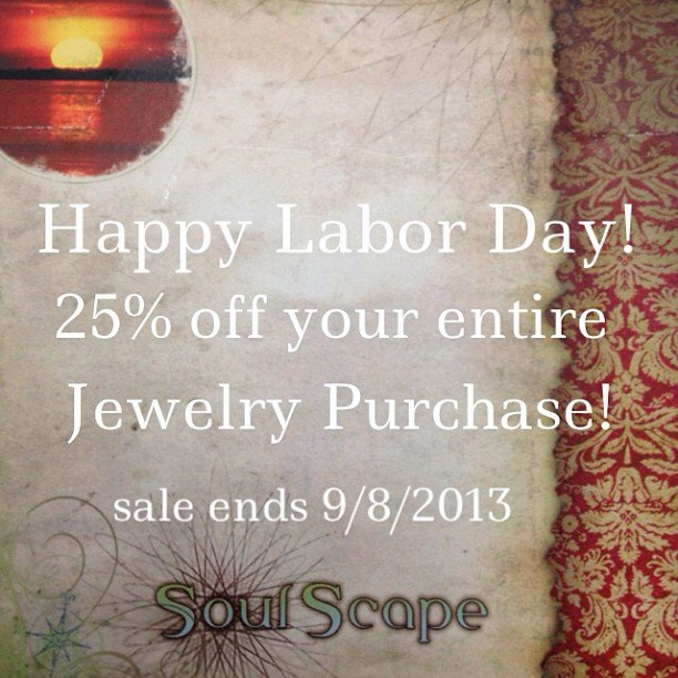 Yep! 25% off everything! Even sale items! Happy Labor Day!