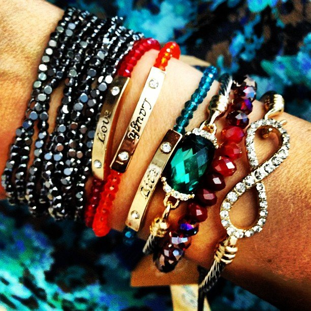 Arm candy! 25% off all jewelry until Sunday night!