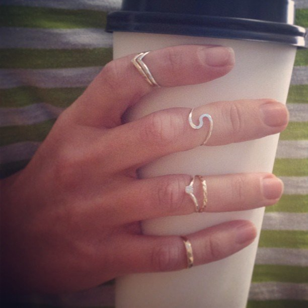 Midi rings are here! Love love love them! How many can I get away with wearing at a time? #Sterling and #goldfilled