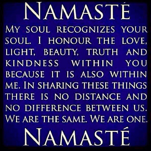 Namaste.... It's been a good day. #grateful