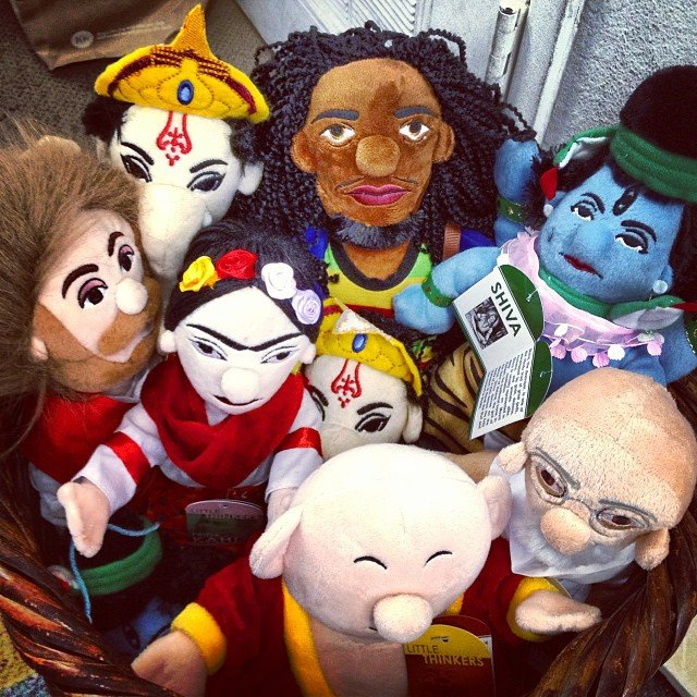 Tired of Barbie's and GI Joe's? How about #ganesha,  #bobmarley #shiva #hotei #ghandi #fridakahlo or #jesus???
