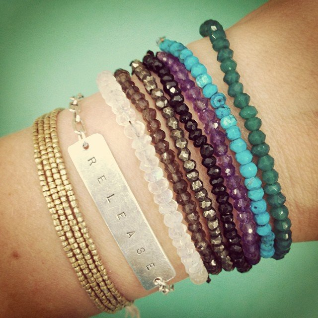 And still obsessed... Faceted #moonstone, #pyrite, #onyx, #amethyst, #turquoise, #smokeyquartz