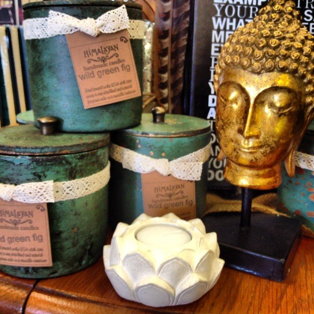 Just a few of my favorites today! #wild green #fig, #gold #buddha and a sweet #lotus