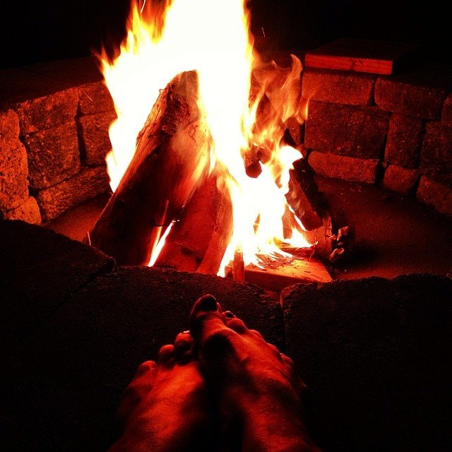 Basking in the light of a new fire of the new year, deeply setting my intentions. #2014