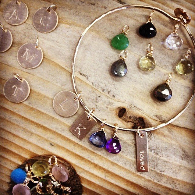 How fun is this? Build your own bangle! Perfect for Mother's Day!