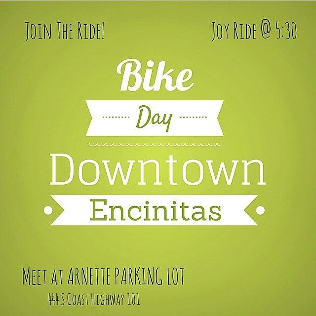 Today is Bike Day! Take a bike ride and bring in your helmet for 15% off your entire purchase!