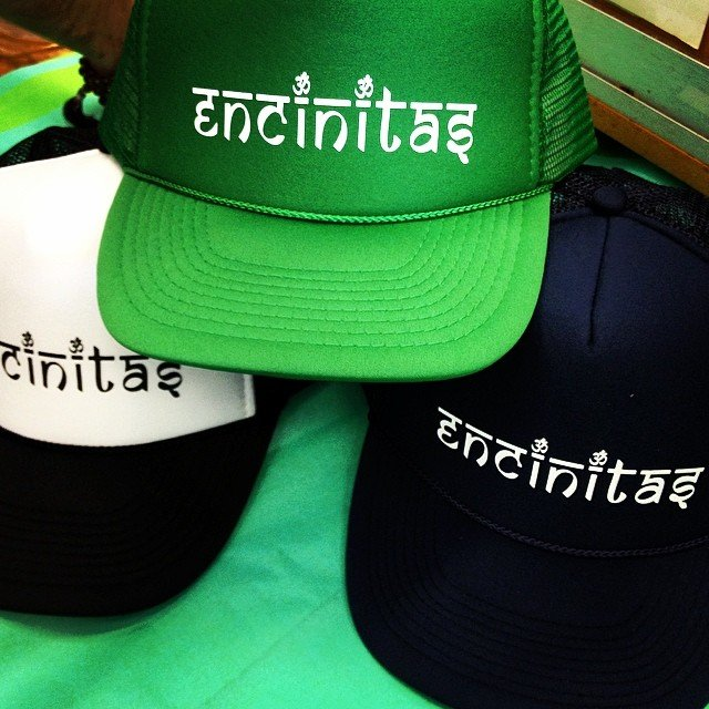 Yay! Our new #Sanskrit inspired #encinitas #truckerhat is in stock!