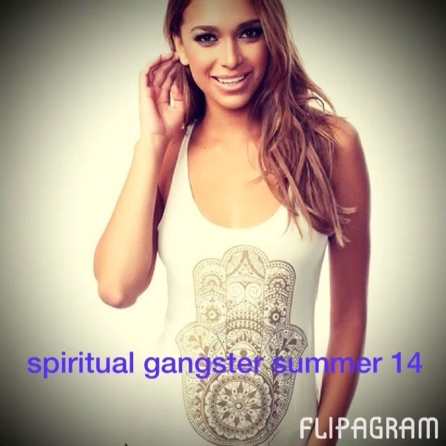 We are obsessed with the new goods from #spiritualgangster. My fav? #westcoast tank!