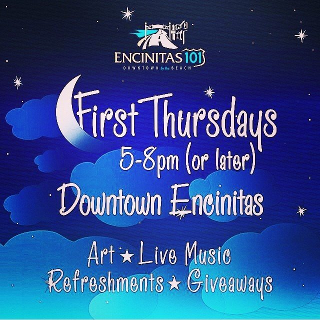 Let's gets this party started! The party starts tonight in #downtownencinitas! FREE henna tattoos at SoulScape from 5pm - 9pm and tons of music, free bites, drinks and discounts!