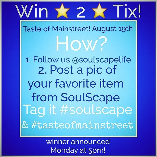 Last chance! You got 2 hours to enter to win 2 tickets to tomorrow's Taste of Mainstreet! $90 value and it includes sip stops! (Private users please direct message me!)
