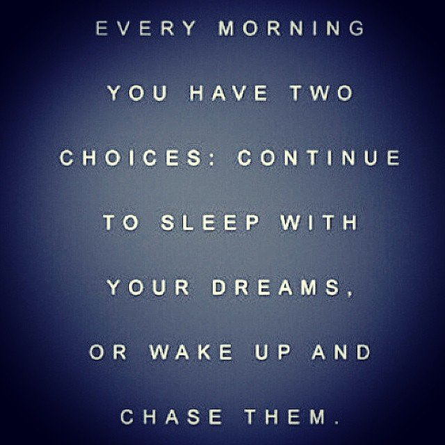 Happy Monday! I'm chasing my dreams, are you?