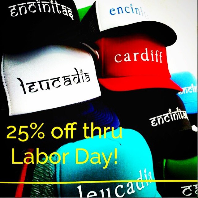 Labor Day Sale! 25% off our amazing custom hats! That makes them under $15! AND 25% off all clothing! Making room for all the Fall collections from your favorites like #spiritualgangster and #teeki hot pants! Sale ends Monday night!