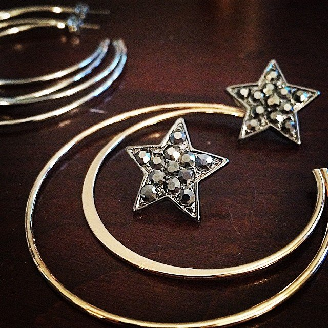 Playing with new collections.... From the #moon and #stars... A perk of the job - there is always an outlet for reflection, and creation.