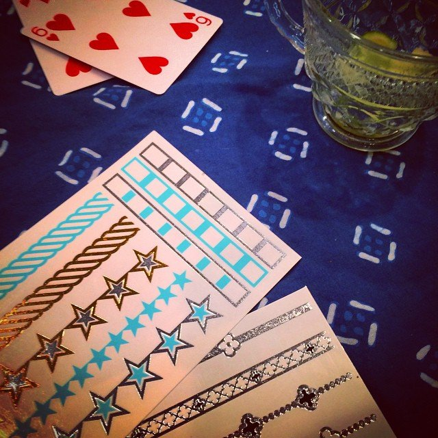 #Euchre, birthday fun, and new turquoise Flash Tats! #happybirthday #soulsister