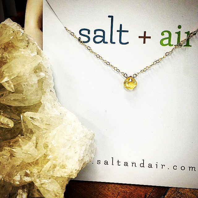 Perfect little stocking stuffers! #Citrine - the #success + #prosperity stone. It manifests abundance and clears negativity, increasing personal power and energy. #myfavorite.  We have tons of different stones with sterling or gold fill chains ready to be gifted to that special someone!