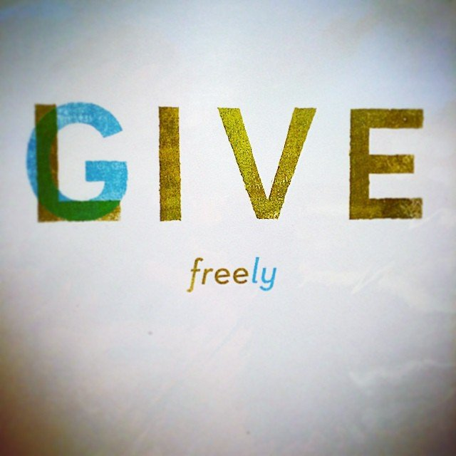 give. Live. give. Live. give. LOVE.