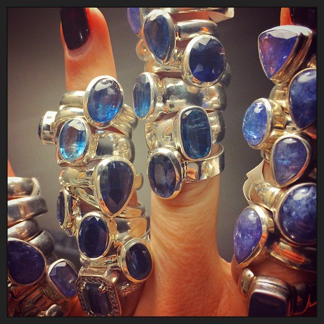 We may have brought back a few rings.... #tanzanite #sapphire #kyanite.
