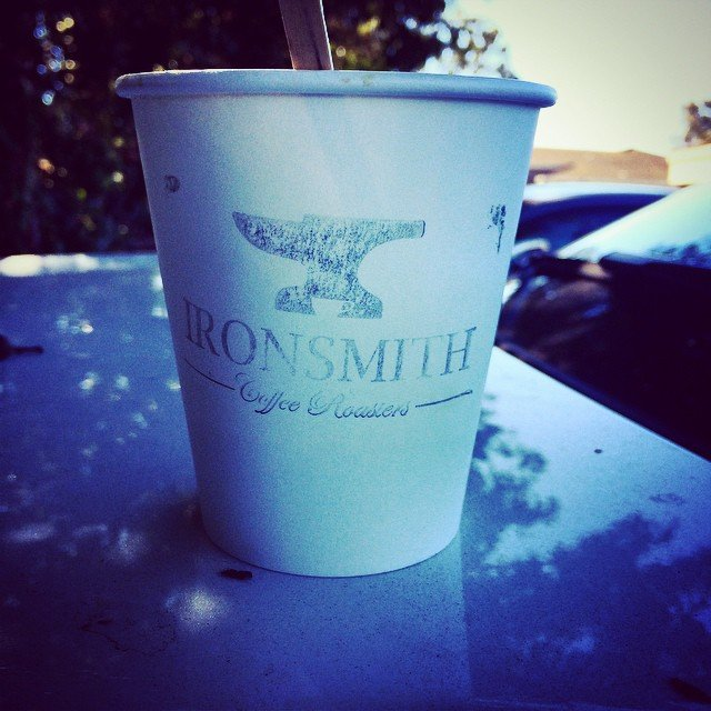 We were treated with amazing coffee from our newest downtown merchant, @ironsmithcoffee, at this mornings board meeting! I don't know what kind it was but lemme tell ya - #mynewfavorite!