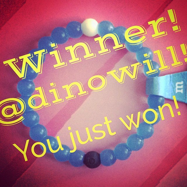 We have a winner! @dinowill give us a call at 760.753.2345 to arrange picking up your 2 Lokai bracelets!