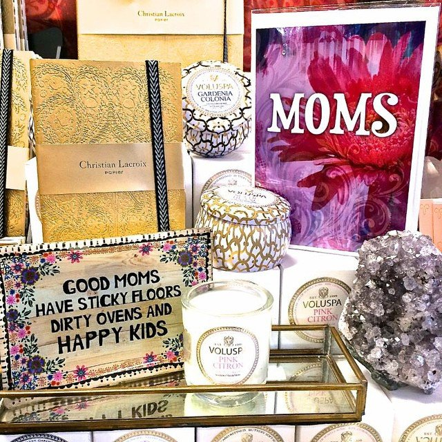 We are open until 9pm tonight and tomorrow if you still need a little something for your mom!