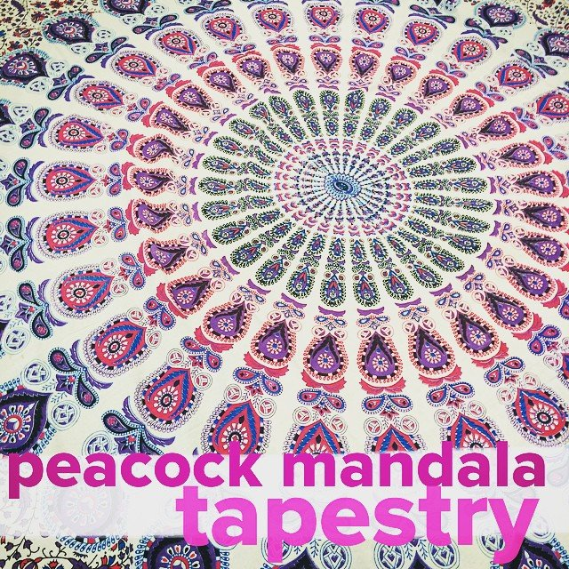 Our new #mandala tapestries are swoon worthy! Perfect as a bedspread, a wall hanging, a table cloth... bring it to the beach, lay it out for a #picnic, make a #teepee, and then wrap it around you at the #bonfire!