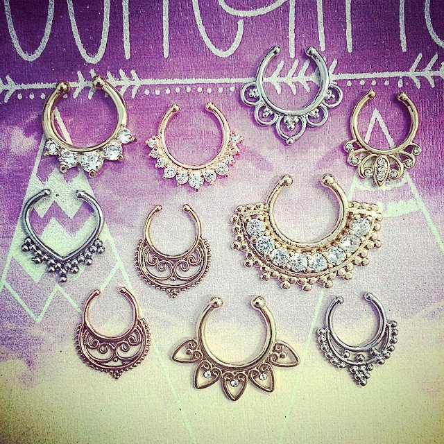 Non pierced septum rings! In store today!