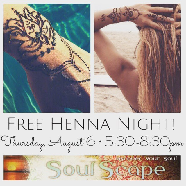 Free #HENNA tonight! 5:30-8:30pm during Classic Car night, come and enjoy our lively downtown filled with some pretty cool cars!