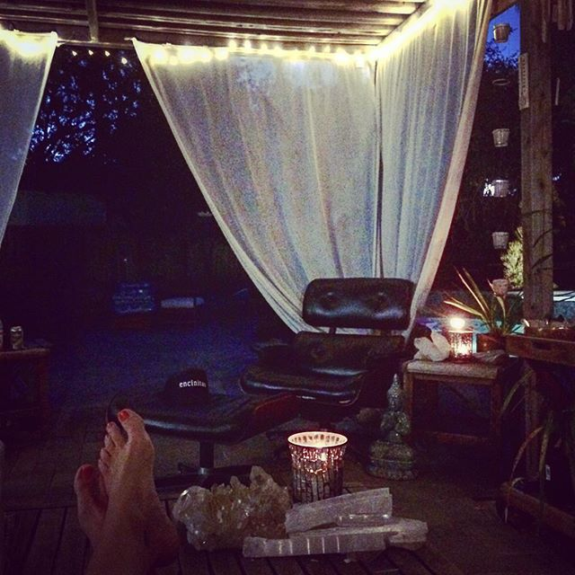 #Summernights with #twinkle lights.