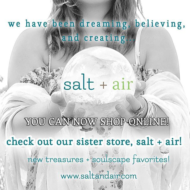 For all of you that come visit us when you're in town, and for those of you that share us with your far away friends and family, you can now shop online! We're just getting started, and adding new treasures everyday!