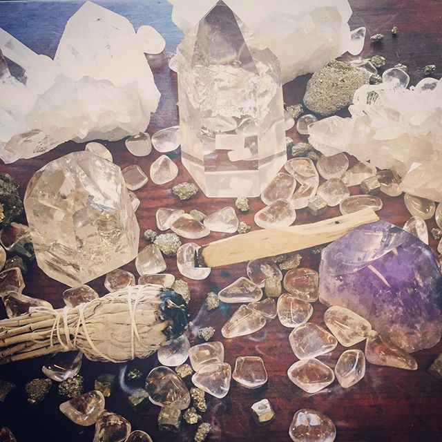 Wishing you all a #happy , #healthy , and #abundant #newyear ! Visit us to stock up on #sage , #crystals , #palosanto , #candles and all other new year #ritual supplies! We're open til 5pm today