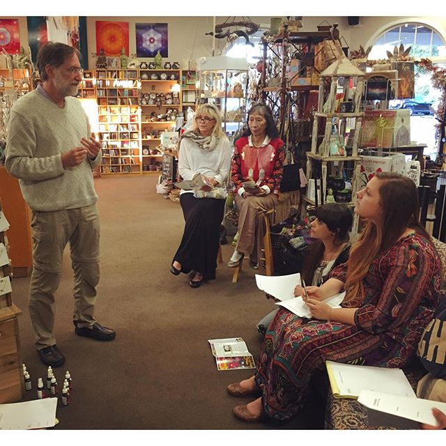 We are so grateful that the founder of Botanical Alchemy dropped in yesterday to explain the uses of his flower essences and aura cleanser to our staff.  His passion is so contagious that even our customers joined in! #soulscape #Encinitas #Encinitaslove #homeopathy #floweressences #aura #healing