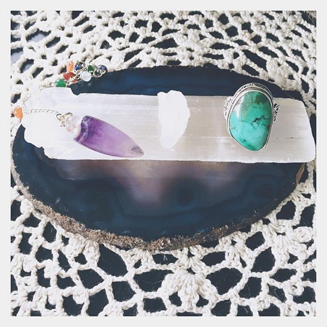 A #selenite #wand makes the perfect #clearing and #recharging station for you #jewelry , #crystals and #pendulums ! Today is our last day of 50% off selenite. All other crystals continue to be 20% off!