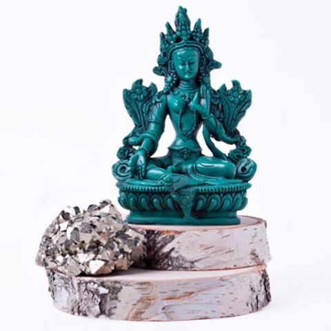 #Tara is #goddess of #universalcompassion . #greentara is thought to be the active side of these ideals of #peace and #compassion and is called upon to help overcome difficult situations. Green Tara is a wonderful #energy to have in your home or office (or anywhere Else!).